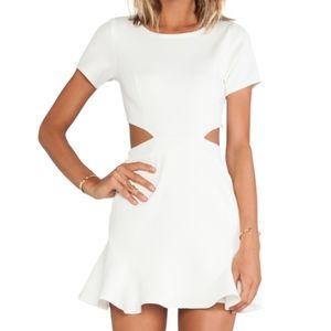 Lovers + Friends Eternal Ivory White Ruffle Dress